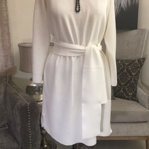White Cotton Knit Dress